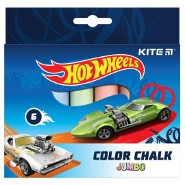 Крейда кольорова Jumbo Kite Hot Wheels 6 кольорів HW21-073, 47381