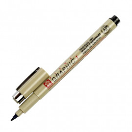 Лінер-маркер чорний Sakura PIGMA Graphic 1 мм XSDK1#49, 366152