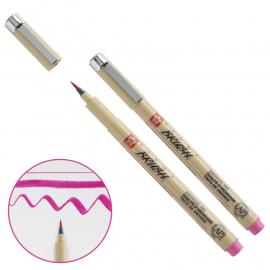 Лінер-пензель рожевий Sakura PIGMA Brash XSDK-BR#21, 352124