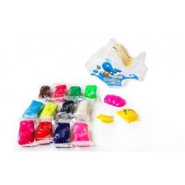Чарівний пластилін 3D пластикова коробка Рибка 12 кольорів Peppy Pinto ZX381, 423815