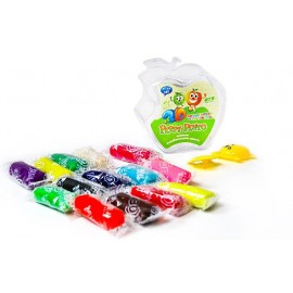 Чарівний пластилін 3D пластикова коробка Яблуко 14 кольорів Peppy Pinto ZX383, 423839