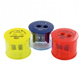 Підстругачка з контейнером для кольорових олівців 2 відділення пластикова Kum Color-Combi, 42520