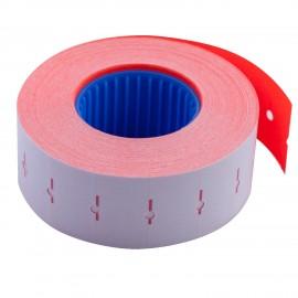 Ценник прямоугольный 22*12 мм, красный, внутренняя намотка, 1000 шт/12 метров, Buromax, 28110105
