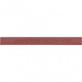 Брусок художній 7х7 мм сепія коричнево-червона Koh-i-noor 4393, 42487