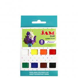 Набір полімерної глини Flower 8 кольорів по 20 грам Jam Clay, 5059007