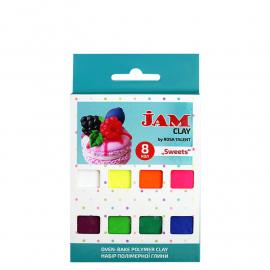 Набір полімерної глини Sweets Jam Clay 8 кольорів по 20 грам, 5059008