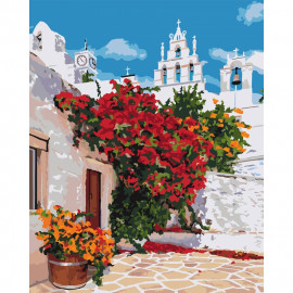 Картина за номерами Квітуча Греція 40х50 см Ідейка КНО3577, 320371