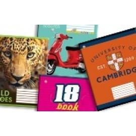 Тетрадь школьная А5 18 листов клетка полноцветная обложка ассорти ТОП, 792961