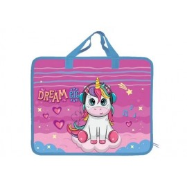 Сумка А4 пластикова з текстильними ручками Unicorn Dreams Kidis 14001, 161778