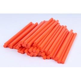 Термоклей помаранчевий діаметр11 мм довжина 25-30 см, ООПТ 1231, 158396