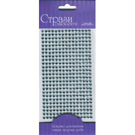 Стрази самоклеючі срібні 375 штук діаметр 5 мм Rosa Talent, 46304