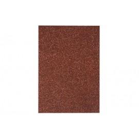 Фоаміран коричневий з глітером 2 мм 20x30 см Eva foam ООПТ 7947, 115535