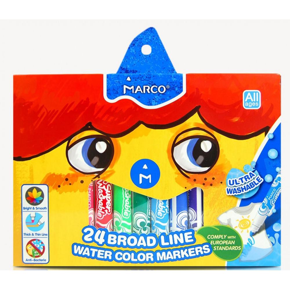 Фломастери Marco Super Washeble Jumbo 24 кольорів 1632-24CB, 914964