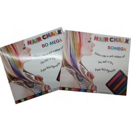 Крейда для волосся 6 кольорів SFB006-2, 000627
