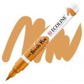 Маркер-кисть акварельный желтый шафрановый (245) Brush Pen Ecoline Royal Talens, 11502450