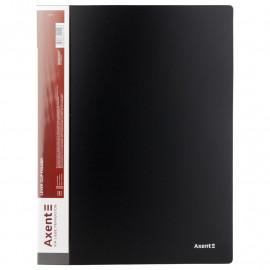 Папка з затиском А4 з внутрішнім карманом чорна Axent 1301-01-A, 02461