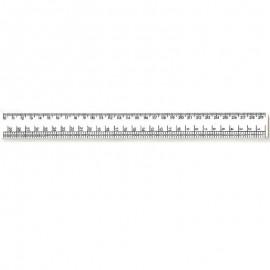 Лінійка закрийника 30 см пластикова біла Атлас AS-0609, 900151