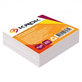 Блок паперу для нотаток білий не клеєний 85х85 мм 300 аркушів Krok, KR-1111, 100403