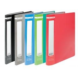 Папка пластиковая A4 20 файлов цвет ассорти Buromax, BM.3605-99, 360599
