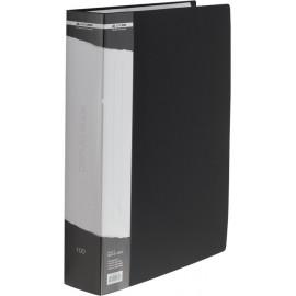 Папка пластикова A4 100 файлів в чохлі чорная Buromax, BM.3633-01, 363301