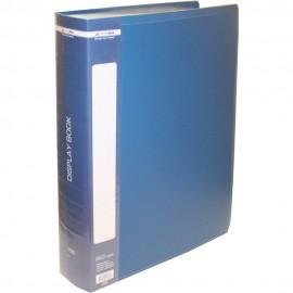 Папка пластикова A4 100 файлів в чохлі синя Buromax, BM.3633-02, 363302
