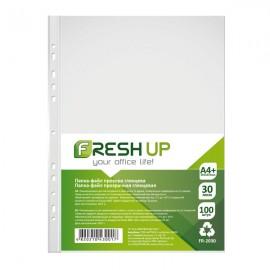 Файли А4 глянцеві 30 мкм 100 штук Fresh Up, FR-2030, 600411