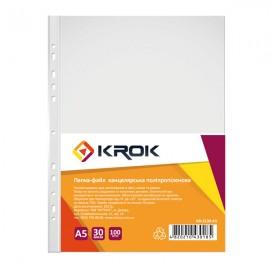 Файли А5 глянцеві 30 мкм 100 штук Krok, KR-2130-А5, 600417
