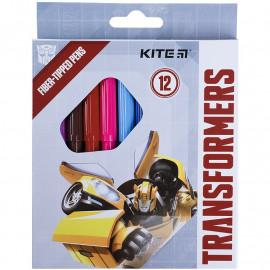 Фломастери 12 кольорів Kite Transformers TF21-047, 47776