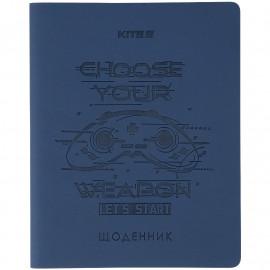 Щоденник шкільний м\'яка обкладинка PU Kite Game K21-283-5, 48461