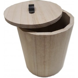 Скринька для декору кругла дерево діаметр 12 см висота 20 см, Knorr Prandell, 218735420