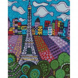 Картина алмазна мозаїка Хмари в Парижі 40х50 см Ідейка, АМ6032, 320210