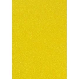 Фоаміран жовтий з глітером 1,8 мм на клейовій основі 20x30 см Eva foam Chiisen 8683, 145570