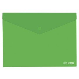Папка-конверт B5, на кнопці, глянець, 180 мкм, асорті, Economix, 31302