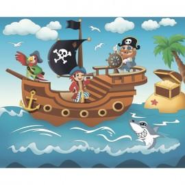 Набір акриловий розпис по контуру на полотні 25х30 см Піратська пригода Ідейка, 7140/2, 308362