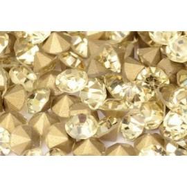 Стразы, 144 шт/уп, 1,4-1,5 мм, бледно-желтый, 030639