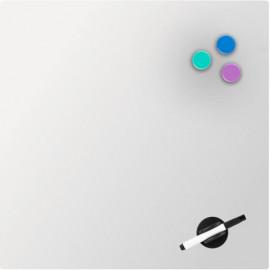 Дошка скляна магнітно-маркерна Axent 45х45 см біла 9614-21-A, 45295