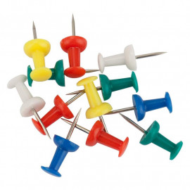 Кнопки-цвяшки кольорові 50 штук Axent 4213-A, 36766