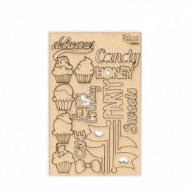 Чіпборд для скрапу Cake delicious 1 картон 13х20 см Rоsа Talant, 94232030
