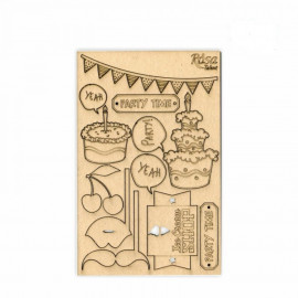 Чіпборд для скрапу Cake delicious 4 картон 13х20 см Rоsа Talant, 94232033