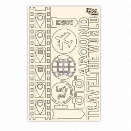 Чіпборд для скрапу Make your journey 1 картон 13х20 см Rоsа Talant, 94232026