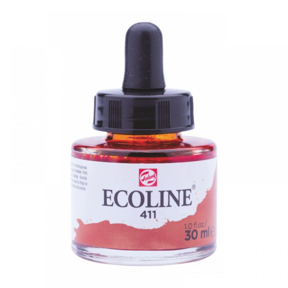 Фарба акварельна рідка Ecoline (411) сієна палена 30 мл Royal Talens, 11254111