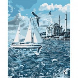 Картина за номерами Морський пейзаж Прогулянка по Босфору 40х50 см Ідейка КНО2743, 316442