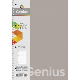 Коледж-блок А4 80 аркушів лінія пластикова обкладинка Genius Школярик, 223989