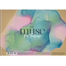 Альбом Mix Technique А4 20 аркушів на спіралі 240 г/м2 Muse Школярик, 224702