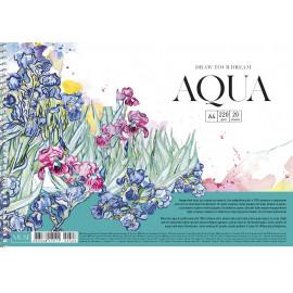 Альбом для акварелі А4 20 аркушів спіраль 220 г/м2 Muse Школярик, 219111