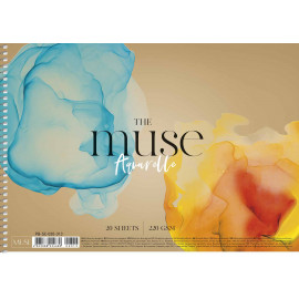 Альбом для акварелі А4 20 аркушів спіраль 220 г/м2 Muse Школярик, 224689