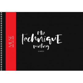 Альбом Mix Technique А4 20 аркушів на спіралі 240 г/м2 Muse Школярик, 213133