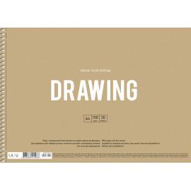 Альбом для малювання А4 30 аркушів спіраль 150 г/м2 Muse Школярик, 212938