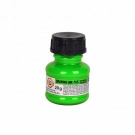 Тушь художественная, флуоресцентная зеленая, 20 грамм, Koh-i-noor, 35436