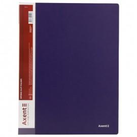 Папка швидкозшивач А4 з металевим притиском синя Axent, 1304-02-A, 02468